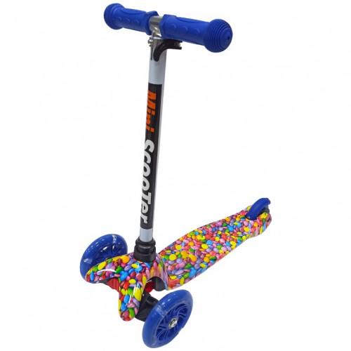 Детский самокат Scooter Mini print TJ702P Цветы бело-зелёный 1/6