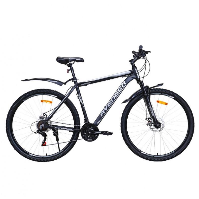Велосипед 29  AVENGER A295D-BK/SL-21(21) , чёрный/серебристый