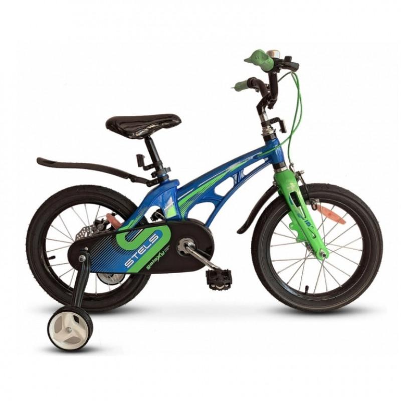 Велосипед 16  Stels  Galaxy V010 синий/зелёный 2021