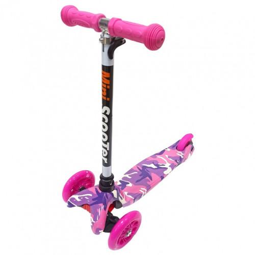 Детский самокат Scooter Mini print TJ702P розовый Камуфляж 1/6