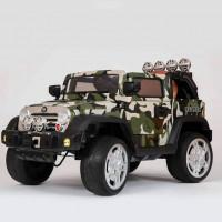 Электромобиль детский Jeep Wrangler 45453 (Р) камуфляж, глянцевый