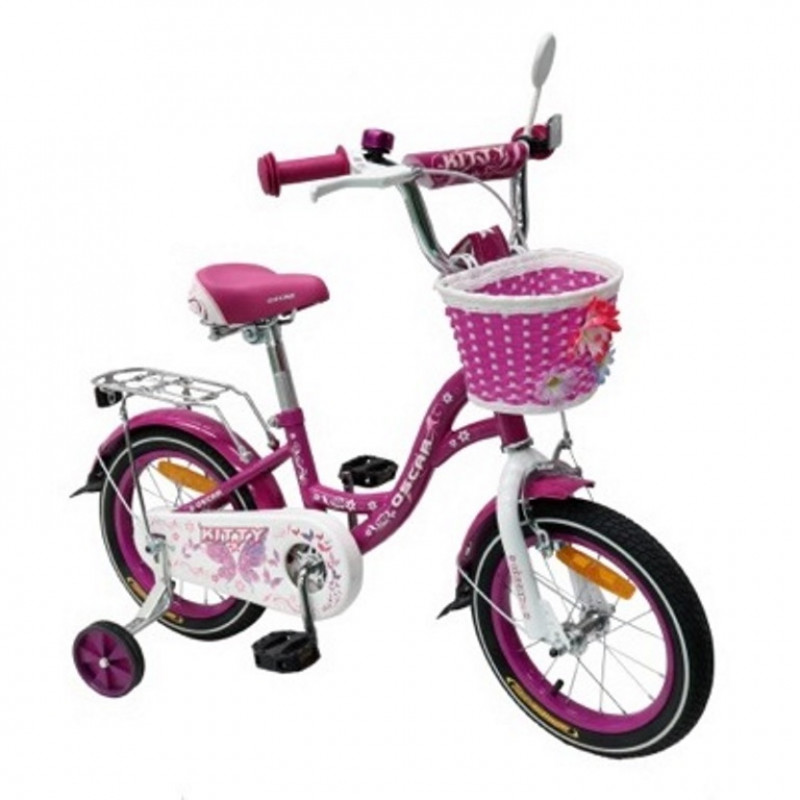 Велосипед 12 OSCAR KITTY фиолетовый/белый  АКЦИЯ!!!