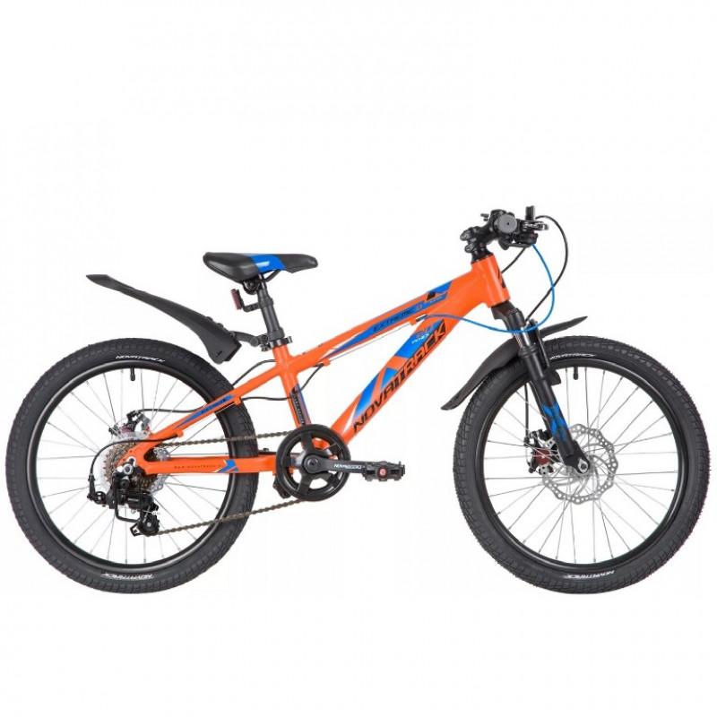 Велосипед 20 Novatrack AH7D.EXTREME.OR20 ,оранжевый, алюм., 7 скоростей, Shimano/MICROSHIT DISK