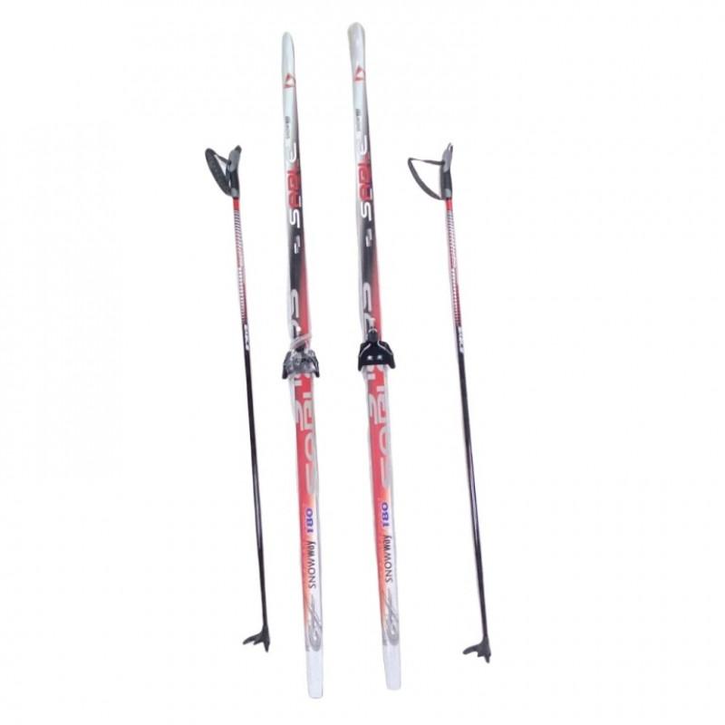 Лыжный комплект STC 75мм 180см (4)+палки+креп. STEP