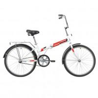 Велосипед 24 Novatrack складной, TG, белый, тормоз нож, двойной обод, багажник, сидение комфорт