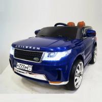 Детский электромобиль RANGE SPORT  E999КХ синий глянец 12в р-у кож 123*60*60