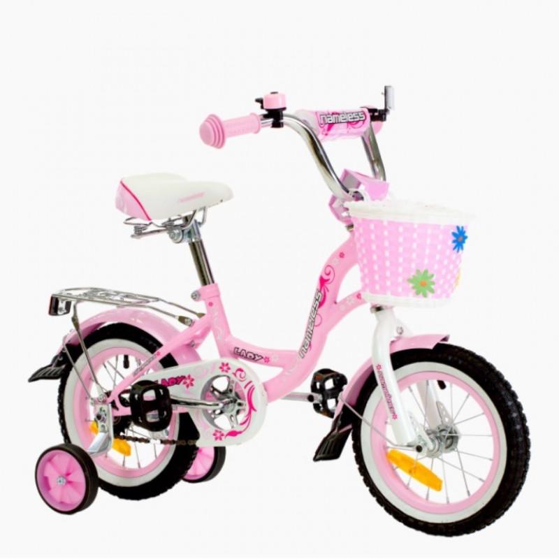 Велосипед 16 Nameless Lady, белый/розовый