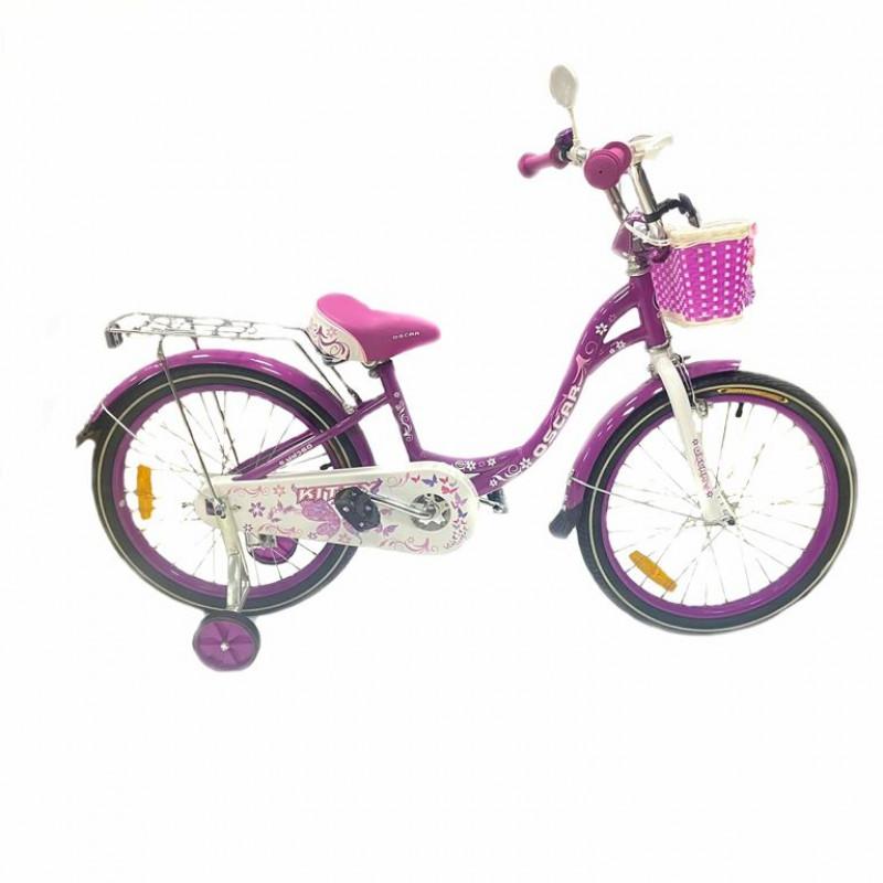 Велосипед 20 OSCAR KITTY фиолетовый/белый  АКЦИЯ!!!