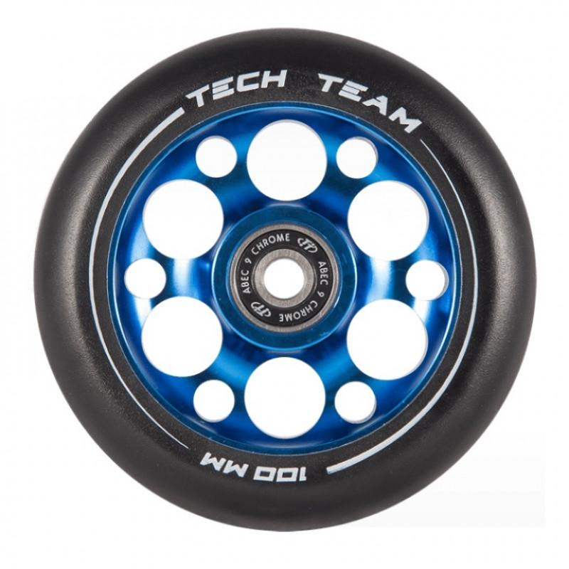 Колесо 100мм X-Treme  для самоката,форма Drilled синий