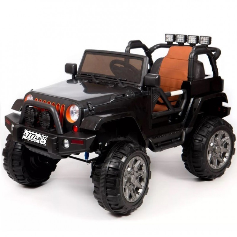 Электро мобиль детский Jeep 47082 (Р) чёрный полный привод