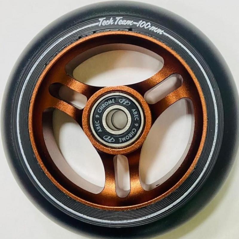 Колесо  100мм X-Treme  для самоката, Triangle , коричневый