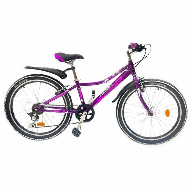 Велосипед 24 Novatrack SH6SV.Alice.12PR21  6-ск пурпурный