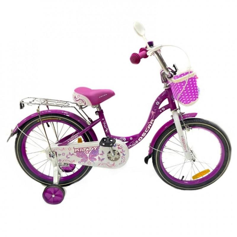 Велосипед 18 OSCAR KITTY фиолетовый/белый  АКЦИЯ!!!