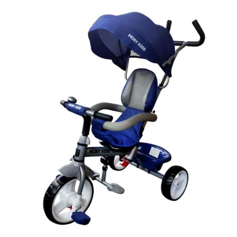Детский 3-х колёсный велосипед 646230 3 в 1 Blitz 10*8 EVA. синий