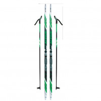 Лыжный комплект NNN креп STC 195см (4)+пал+кр степ