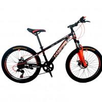 Велосипед 24 HYPE 24MD300-4 оранжевый/чёрный матовый