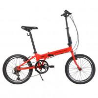 Велосипед 20  Novatrack 20FATG6SV.RD20 ,складной ,алюминевый ,Shimano 6 speed ,стальная вилка ,вынос складной