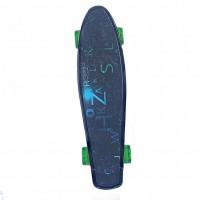 Скейтборд  Explore Ecoline GLAS/6 пластиковый Буквы черная дека колеса зеленые