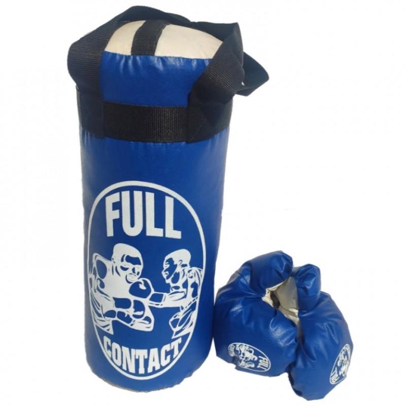 Груша набор + перчатки средний синий