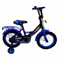 Велосипед 12 OSCAR TURBO Black-Blue (черный/синий) 2021